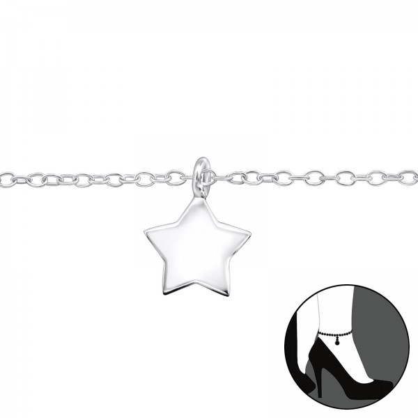 Silver Anklet FORZ25-ANK-TOP-CCST12-FLAT/31576