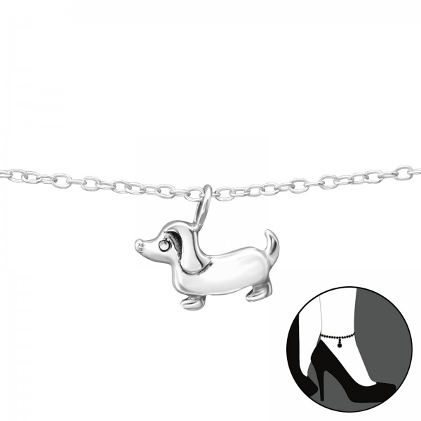 Silver Anklet FORZ25-ANK-TOP-JB8694 OX/35071