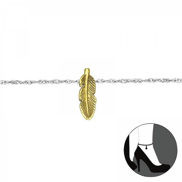 Silver Anklet SING20-ANK-BH-JB6222-SP/GP/29981