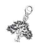 Silver Tree Clip on Charm, #27786