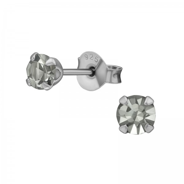 Basic Ear Studs ESA-R4-4P-OPT BK/RU/35796
