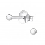 Silver Ball 2mm Ear Studs, #2399