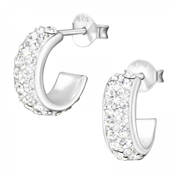 Crystal Ear Studs CCHP-13X5 (PP-12)/35859