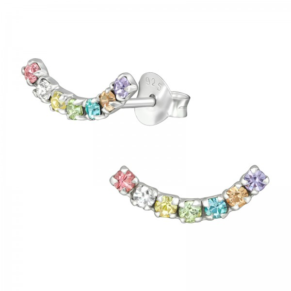 Crystal Ear Studs ES-APS3056-RAINBOW/39581