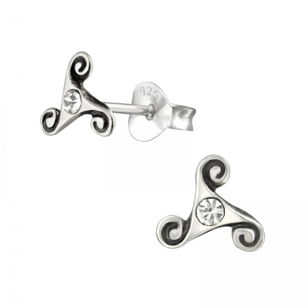 Crystal Ear Studs ES-APS4045 OX/38508