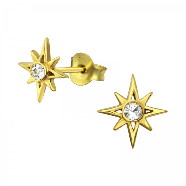 Crystal Ear Studs ES-JB11093 GP/34934