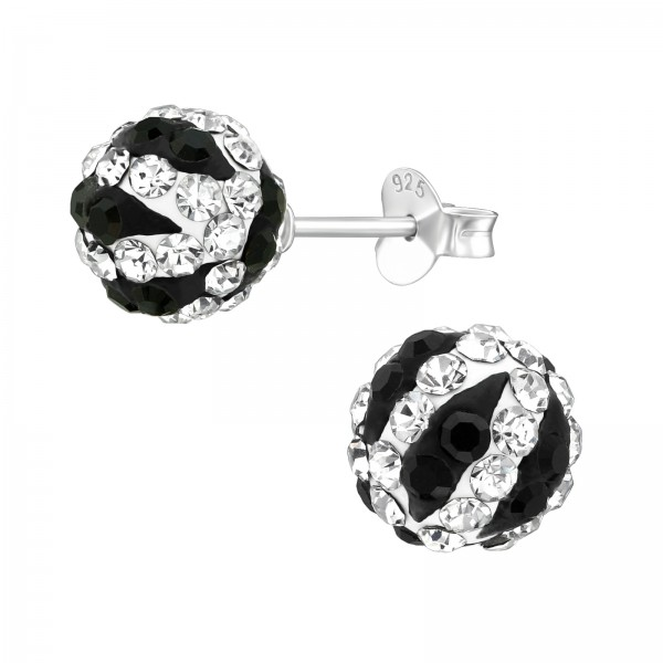 Crystal Ear Studs ES-JP3-FB8-ZS-PO-CH CRY/JET/39273