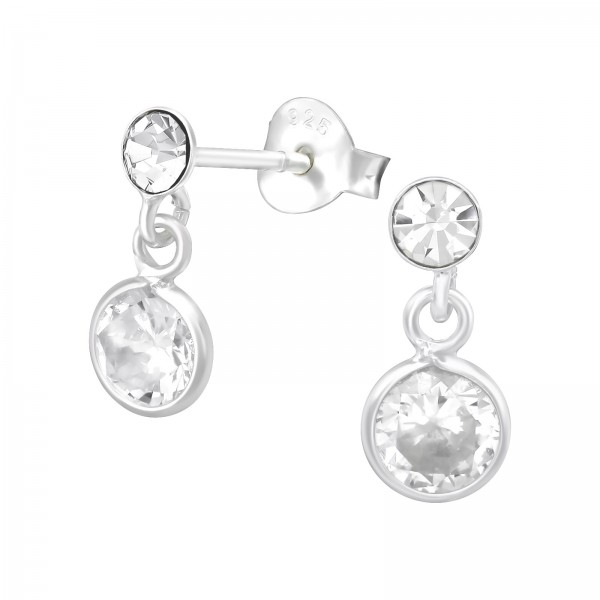Crystal Ear Studs ES04-HP-CZA-R5/39532