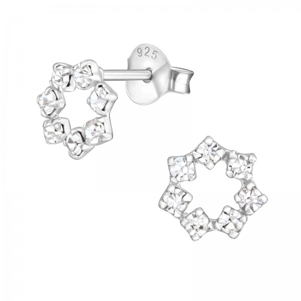 Crystal Ear Studs ESJ-544/16032