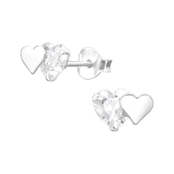 Cubic Zirconia Ear Studs CESH-5-APS1600/37007