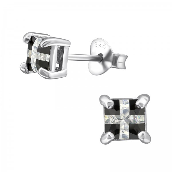 Cubic Zirconia Ear Studs CESQ-4-BC/16159