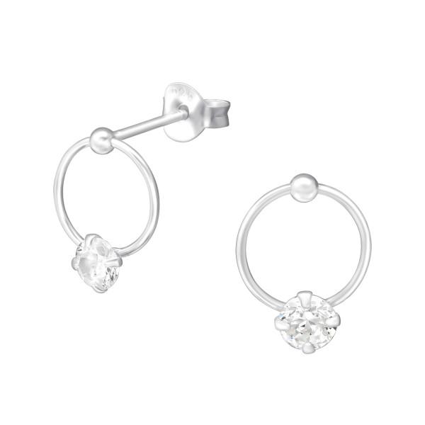 Cubic Zirconia Ear Studs ES-APS2918/33708