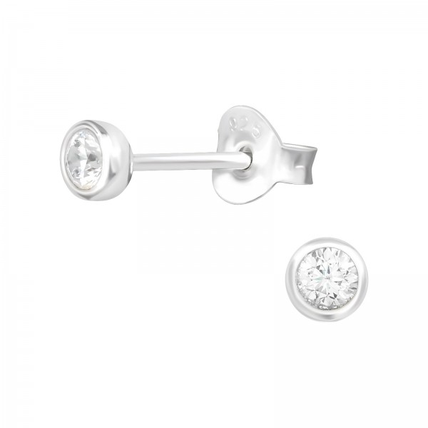 Cubic Zirconia Ear Studs ES-JB10005 /39456