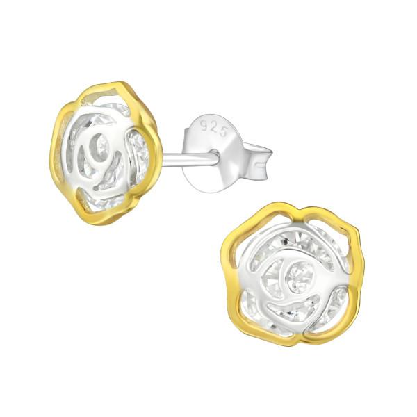 Cubic Zirconia Ear Studs ES-JB10067-2TGP/37584
