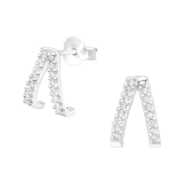 Cubic Zirconia Ear Studs ES-JB10458/40545