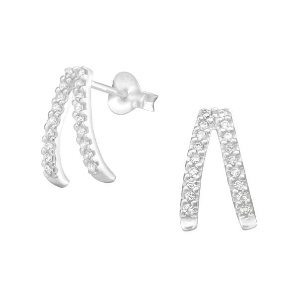 Cubic Zirconia Ear Studs ES-JB11080/36792