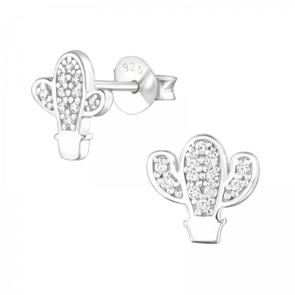Cubic Zirconia Ear Studs ES-JB11461-A-B/36803