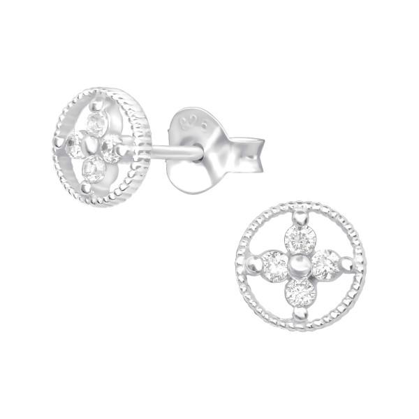 Cubic Zirconia Ear Studs ES-JB11500/38585