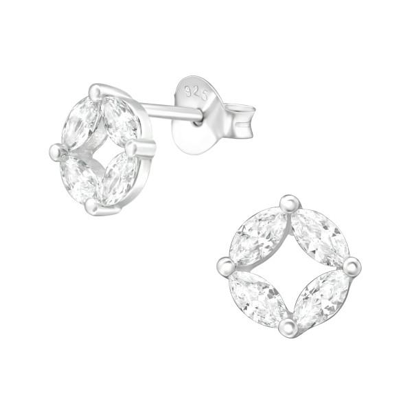 Cubic Zirconia Ear Studs ES-JB11816/38420