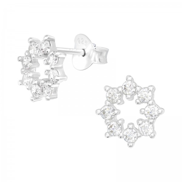 Cubic Zirconia Ear Studs ES-JB12043/40056