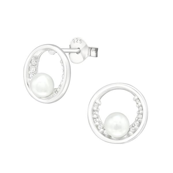 Cubic Zirconia Ear Studs ES-JB12348-PPL4/38814