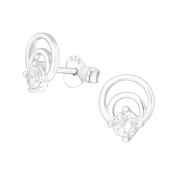 Cubic Zirconia Ear Studs ES-JB12353/38815