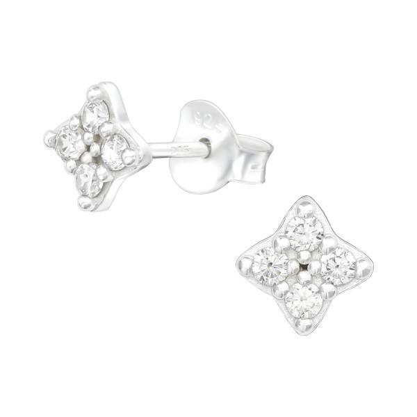 Cubic Zirconia Ear Studs ES-JB12420/38818