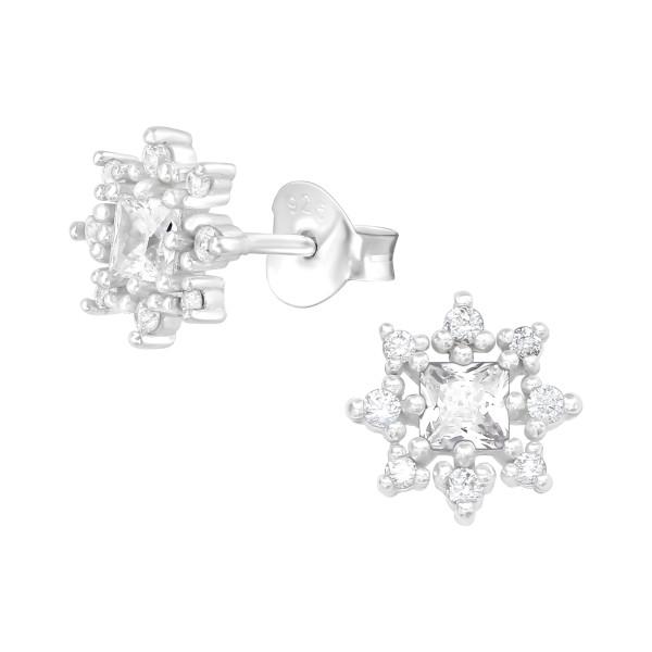 Cubic Zirconia Ear Studs ES-JB12528/38820