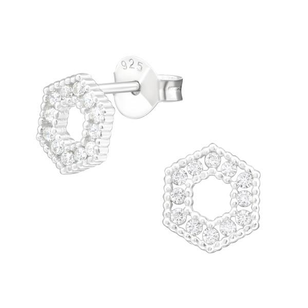 Cubic Zirconia Ear Studs ES-JB12683/38830