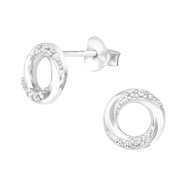 Cubic Zirconia Ear Studs ES-JB12694/40110