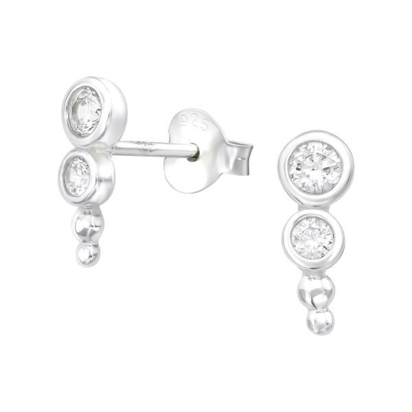 Cubic Zirconia Ear Studs ES-JB12853/38835