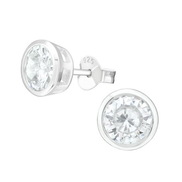 Cubic Zirconia Ear Studs ES-JB13541/40067
