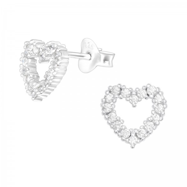 Cubic Zirconia Ear Studs ES-JB13918/40092