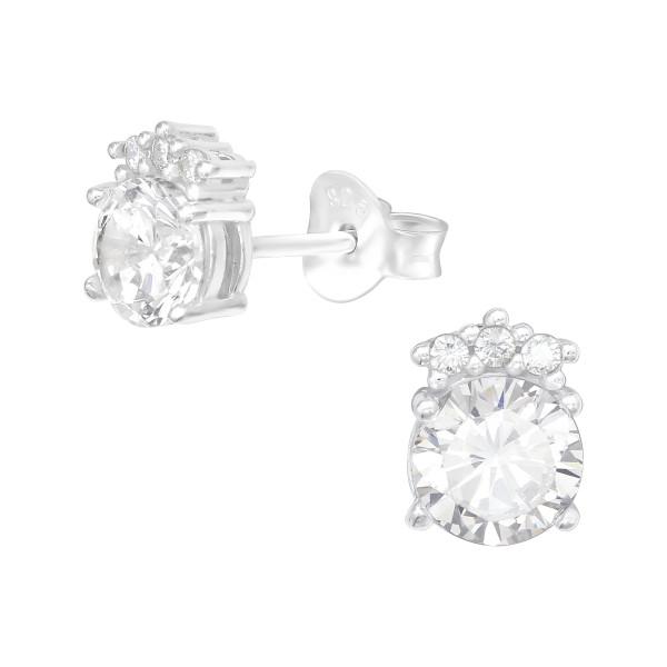 Cubic Zirconia Ear Studs ES-JB13934/40100