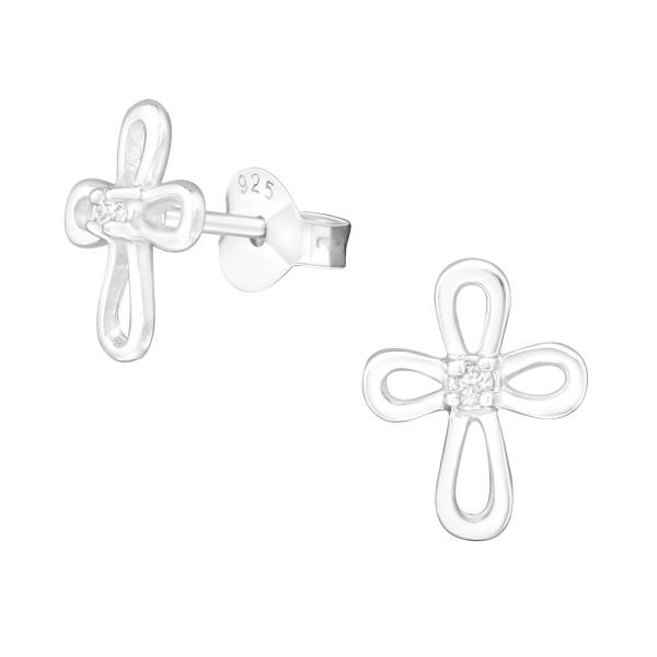 Cubic Zirconia Ear Studs ES-JB498/12159