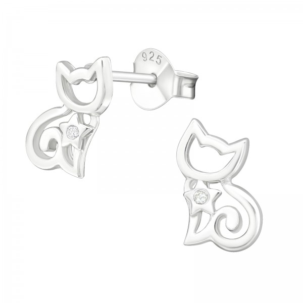 Cubic Zirconia Ear Studs ES-JB6508/19020