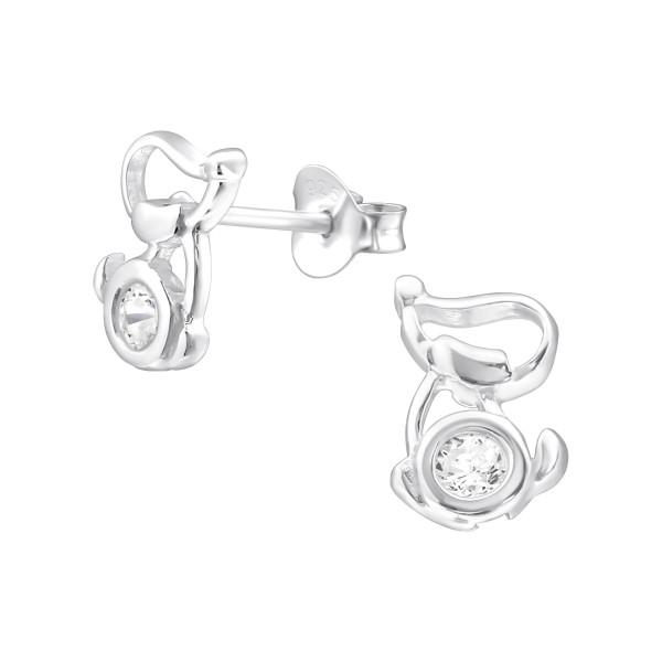 Cubic Zirconia Ear Studs ES-JB7182/22003