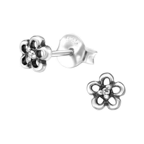 Cubic Zirconia Ear Studs ES-JB7294-OX CRY/30951