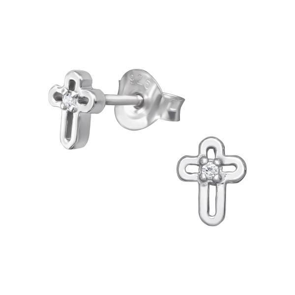 Cubic Zirconia Ear Studs ES-JB7302 RP/39055