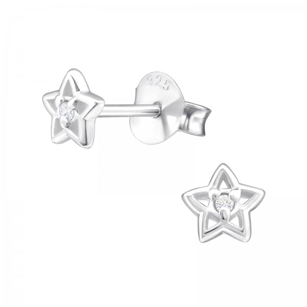 Cubic Zirconia Ear Studs ES-JB7306-B/33215