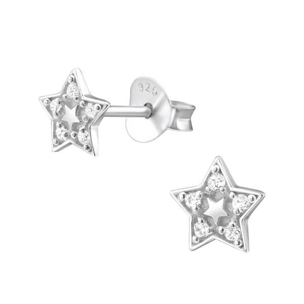 Cubic Zirconia Ear Studs ES-JB8214/26028