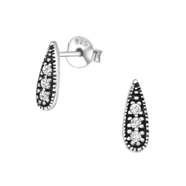 Cubic Zirconia Ear Studs ES-JB8965 OX/30082