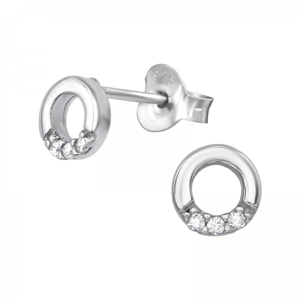 Cubic Zirconia Ear Studs ES-JB9030 RP/39389