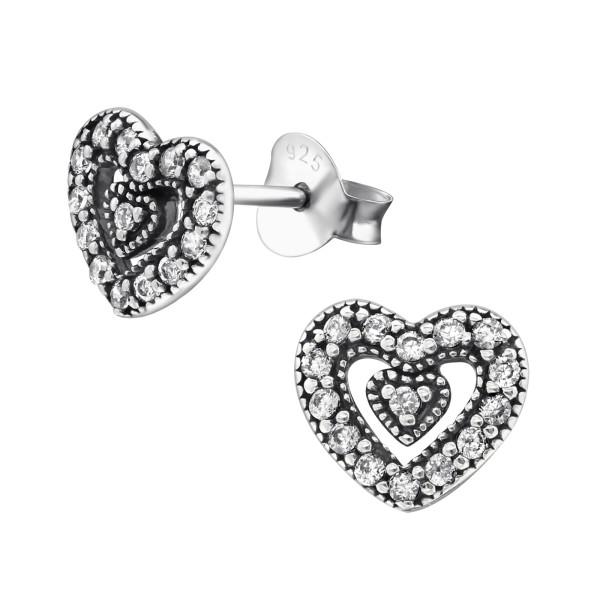 Cubic Zirconia Ear Studs ES-JB9385 OX/30813