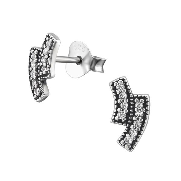 Cubic Zirconia Ear Studs ES-JB9394 OX/30816