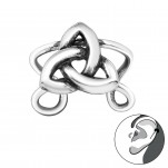 Silver Celtic Knot Ear Cuff, #29193