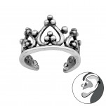 Silver Crown Ear Cuff, #33799