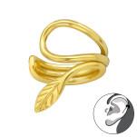 Silver Leaf Ear Cuff, #40921