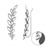 Silver Olive Ear Pin, #40637