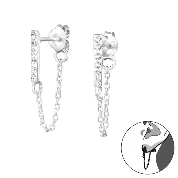 Ear Jackets & Double Earrings CC-APS3084-FORZ25/35206